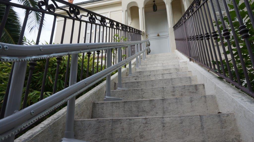 monte escalier villa